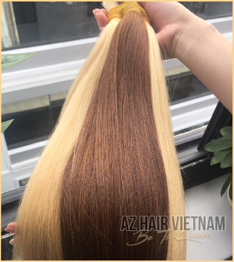 Bulk Straight Hair Extensions Brown Color Vietnam In Best Quality