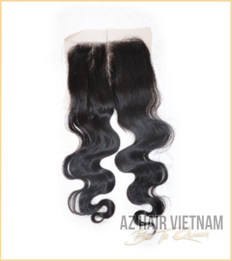 Lace Closure 5×5 Hair Body Wavy Black Color Vietnam