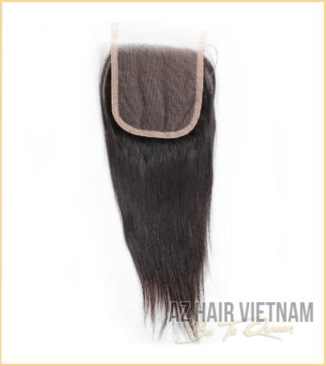 Lace Closure 4×4 Hair Straight Black Color Vietnam