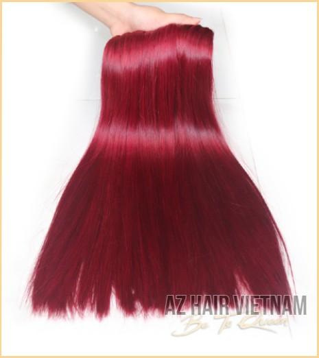Weave Hair Bone Straight In Wine Color Human Hair Vietnam