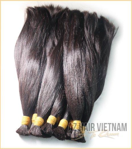 Vietnamese Bulk Straight Hair Extensions Natural Color Black
