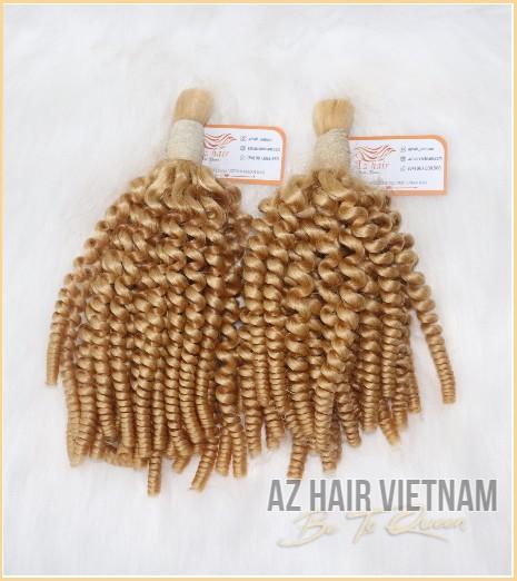 Bulk Hair Deep Curly Blonde #613 Color Vietnam