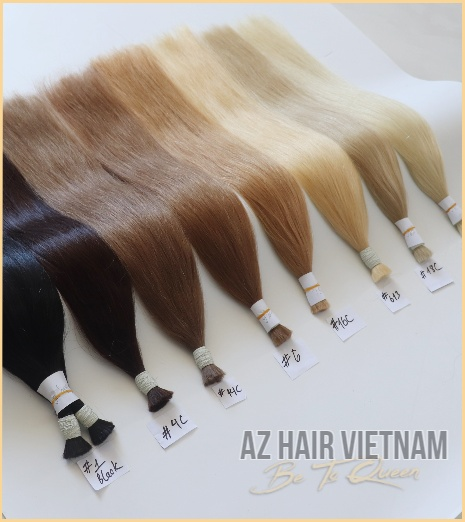 Bulk Straight Hair Extensions Colors Human Hair Vietnam