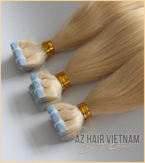 Tape-In Hair Extensions Blonde Color Hair Vietnam